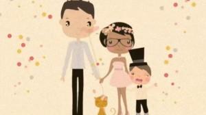 mariage en dessin animé
