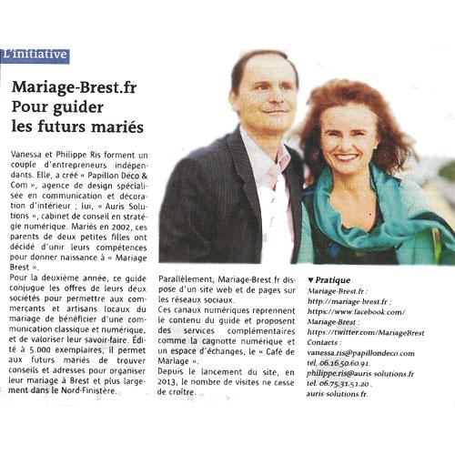 Vanessa et Philippe de Mariage Brest